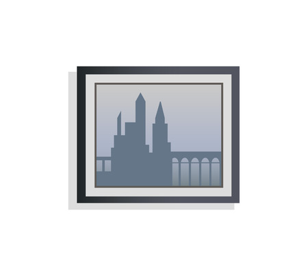 Interior Design City Picture Vector Illustration