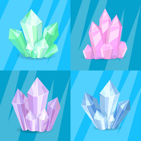 Variety Green Pink Purple Blue Crystals Precious