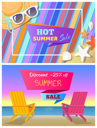 Hot Summer Sale with 25 Off Promo Posters Set