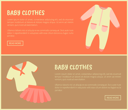 Baby Clothes Set of Sites Vector Illustration