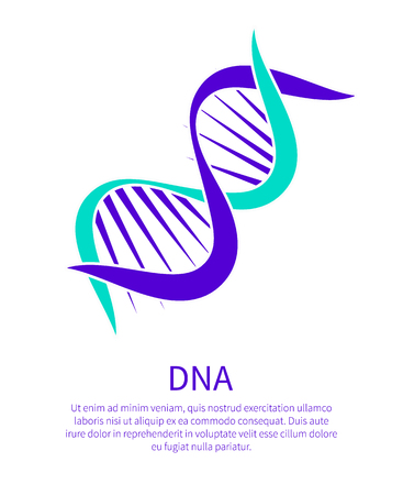 DNA Chain Informative Poster with Sample Text