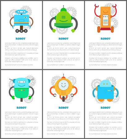 Robot and Innovation Set Vector Illustration