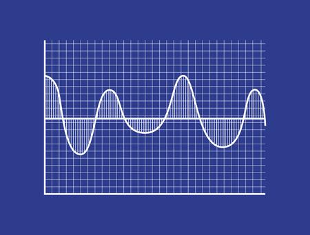 Ola de onda en el sistema de arn biométrico Foto de archivo - 102127387