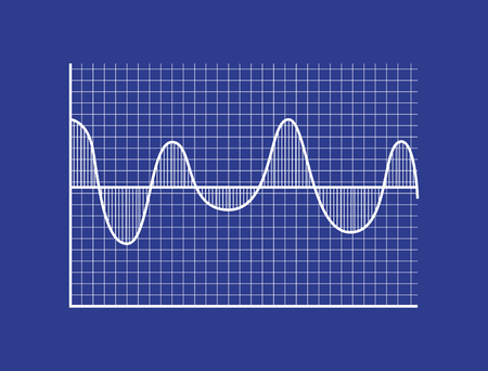 Schematic Statistical Wave on Coordinate System Illustration