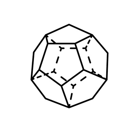 Dodecahedron Complicated Black Geometric Figure