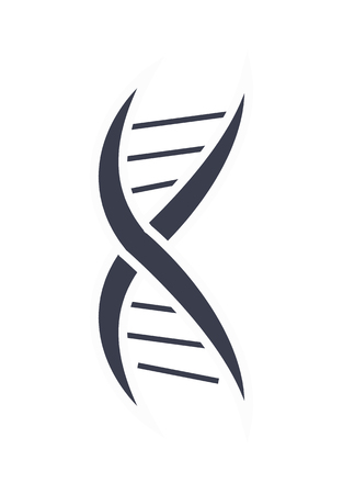DNA Deoxyribonucleic Acid Chain Design Icon