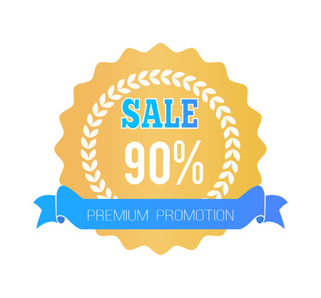Sale Premium Promotion Label Special Offer 90