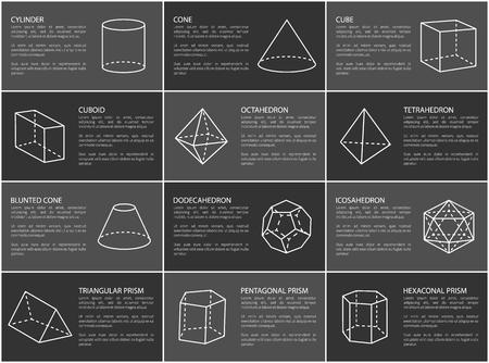 Geometric Shapes Text Sample Vector Illustration 向量圖像