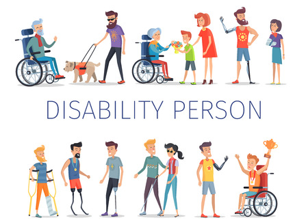 Disabled and Injured People Live Normal Lives Ilustrace