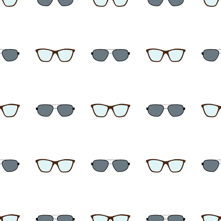 Eyeglasses Collection Pattern Vector Illustration