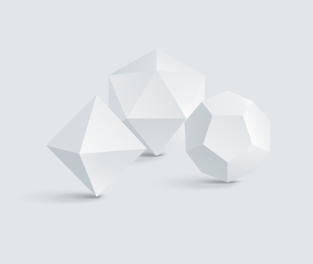 Octahedron and Icosahedron, Dodecahedron Prisms