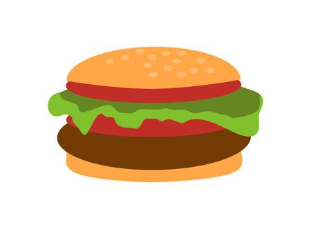 Cheeseburger Closeup Object Vector Illustration