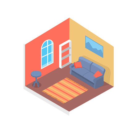 Home Design, Cute Interior, Cozy Room, Color Card