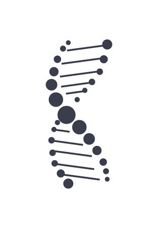 DNA Deoxyribonucleic Acid Chain Design Icon