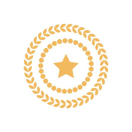 Golden Seal Round Laurel Branch Circle Dots Stamp