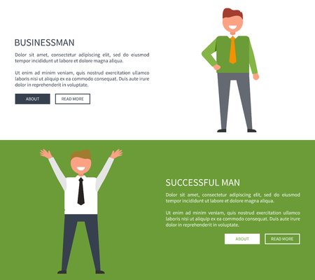 Businessman and Successful Man Set of Posters