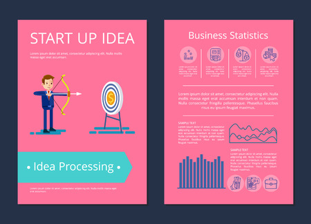 Start Up Idea and Processing Vector Illustration