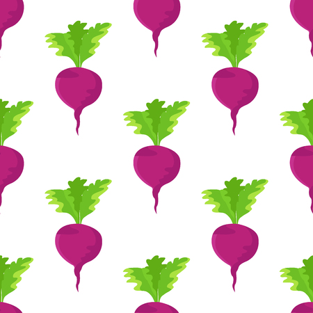 Garden Radish Purple Plant Seamless Pattern Vector Banco de Imagens - 102242070