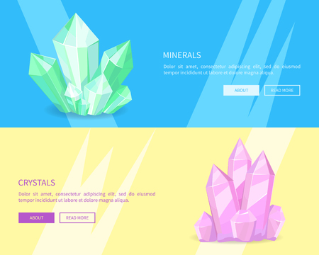 Minerals Crystals Web Posters Online Push Buttons Stockfoto - 102242087