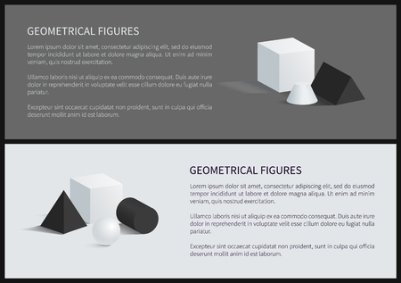 Geometrical Figures Poster Vector Illustration