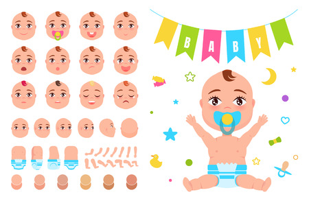 Baby Constructor Create your Newborn Character Illustration