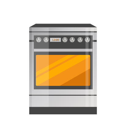 Kitchen Stove of High Quality in Metallic Corpus