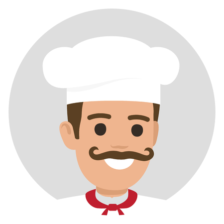 Moustached Smiling Chief-Cooker Avatar-profiel