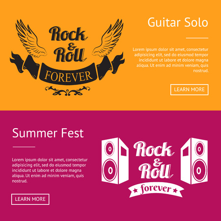 Rock Roll Forever and Summer Fest Set of Banners