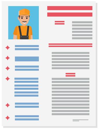 Career information leaflet flat vector concept 일러스트