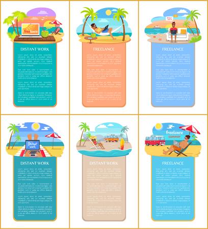 Freelance Summer Collection Vector Illustration