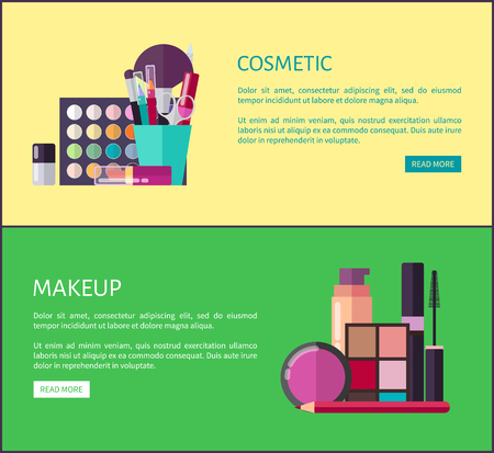 Cosmetic and Makeup Online Shop Web Page Templates