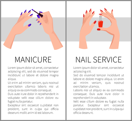 Manicure and Nail Service Card Vector Illustration Иллюстрация