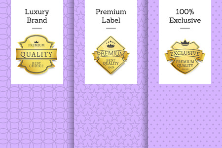 Luxury Brand Premium Label Exclusive Set Posters Illustration