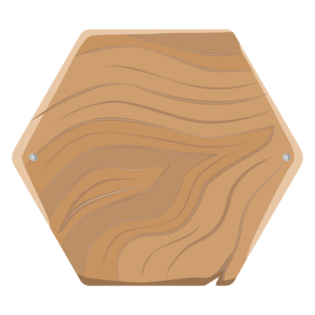 Pentagonal Wooden Board for Advertising with Nails