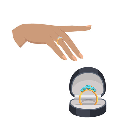 Marriage Proposal or Engagement Vector Concept 向量圖像