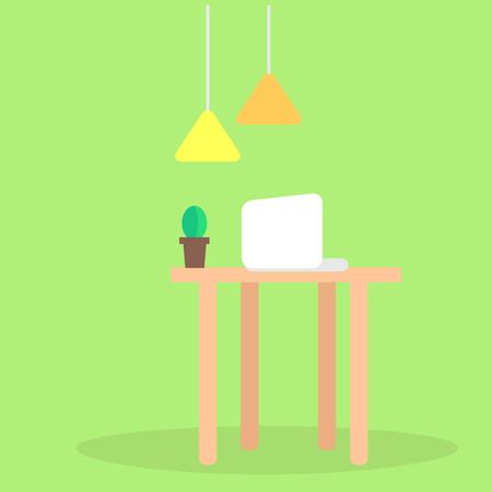 Modern Workplace Flat Vector Concept