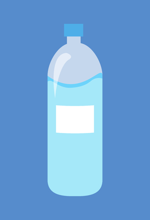 Plastic Bottle of Water Isolated Illustration