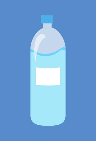 Plastic Bottle of Water Isolated Illustration