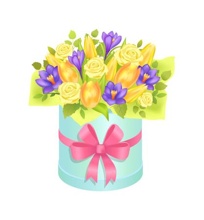 Big Cute Bunch with Varied Flowers Colorful Poster Illusztráció