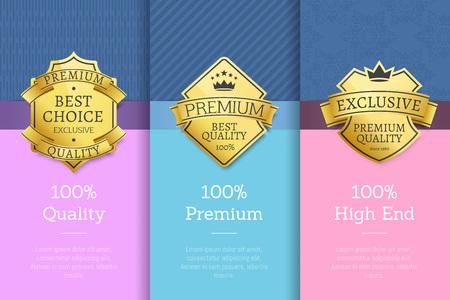 100 Quality Premium High End Standard Posters Archivio Fotografico - 102393783