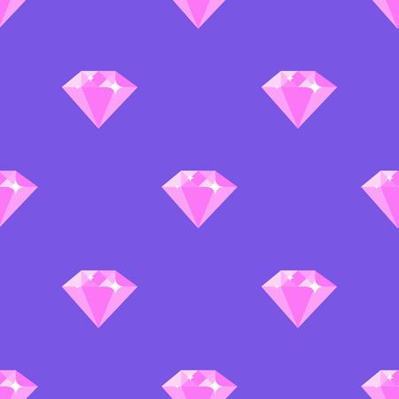 Diamond Pattern on Purple Background Illustration
