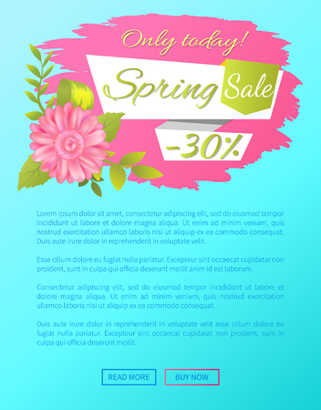 Spring Sale Only Today 30 Off Web Poster Online