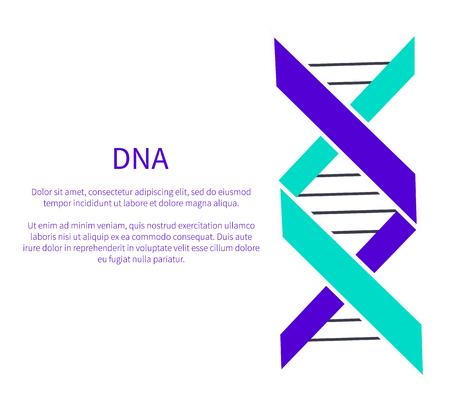 DNA Deoxyribonucleic Acid Chain Logo Design Blue