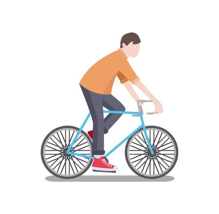 Man Riding Bicycle Poster Vector Illustration Reklamní fotografie - 102476812