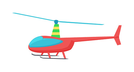 Goodly Toy of Color Helicopter Vector Illustration Illustration