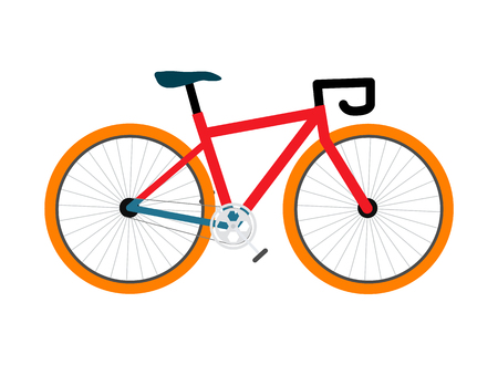 Bicycle Pedal-Driven Colorful Vector Illustration Illustration