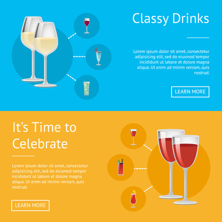 Classy Drinks and it s Time to Celebrate Poster