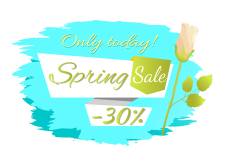 Only Today Spring Sale 30 Off Advertisement Label