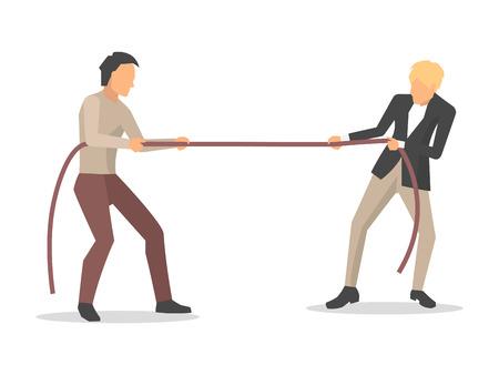 Nahaufnahme der Männerwettbewerbs-Vektorillustration Vektorgrafik