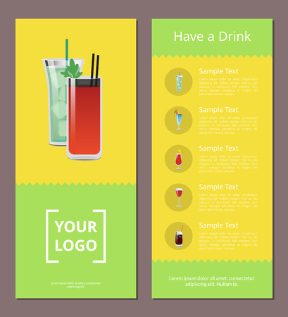Have a Drink Advertisement Poster Design Alcohol